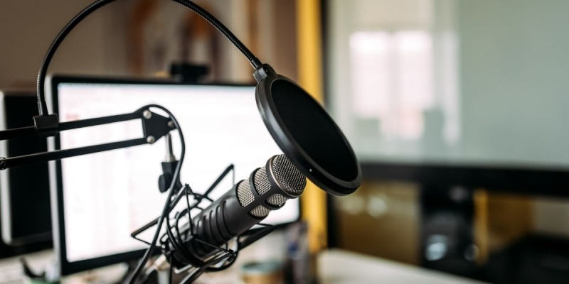 Business of voiceover microphone